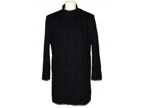 Vlněný pánský černý kabát Remus L