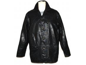 KOŽENÁ pánská černá zateplená bunda VALI M