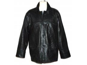 KOŽENÁ pánská černá zateplená bunda L