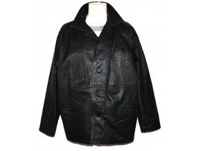 KOŽENÁ pánská černá měkká zateplená bunda Classic L