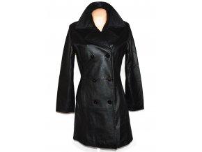 KOŽENÝ dámský černý měkký kabát Sybilla L