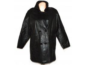 KOŽENÝ dámský černý kabát XL