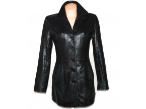 KOŽENÝ dámský černý měkký kabát MAX S