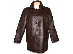 KOŽENÝ dámský hnědý kabát Milan Leather XL