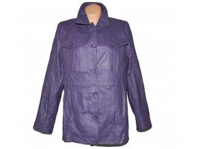 KOŽENÝ dámský fialový měkký kabát Centigrade XL