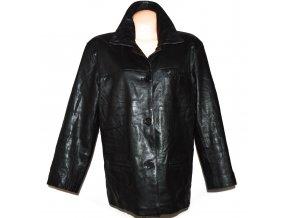 KOŽENÁ dámská černá měkká zateplená bunda Berta 42