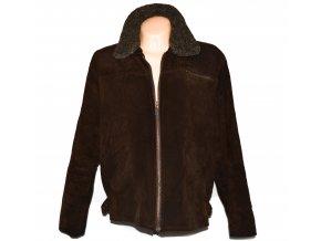 KOŽENÁ dámská hnědá zateplená bunda na zip Keenan Leather XL
