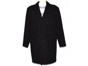 Vlněný (80%) pánský černý kabát Cedarwood State L
