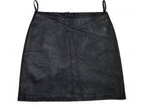 KOŽENÁ dámská černá sukně XS
