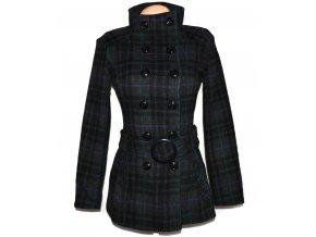 Dámský šedý kabát s páskem Jane Norman XS
