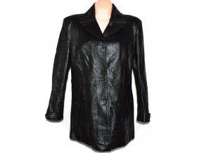 KOŽENÝ dámský černý měkký kabát MILAN LEATHER XL/XXL