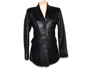 KOŽENÝ dámský černý měkký kabát MDK M