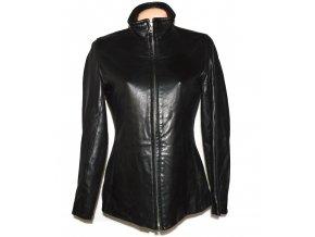 KOŽENÁ dámská černá měkká bunda na zip Marc New York M