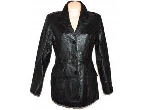 KOŽENÝ dámský černý kabát BAY M