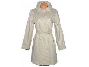 Bavlněný dámský krémový kabát s páskem MK L