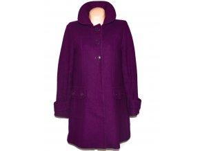 Vlněný dámský fialový kabát Warehouse 14/42