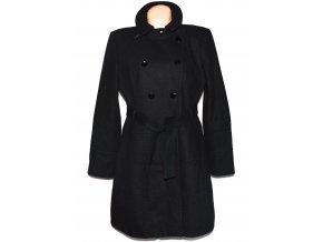 Vlněný dámský černý kabát s páskem River Island 18/44