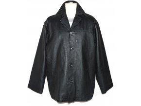 KOŽENÁ pánská černá zateplená měkká bunda Timothy Daniels XL