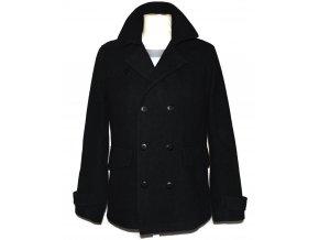 Vlněný pánský černý kabát Debenhams M