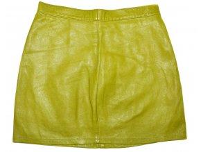 KOŽENÁ dámská zelená měkká sukně Bootleg S