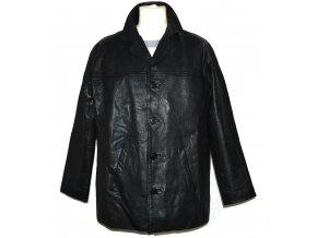 KOŽENÁ pánská černá zateplená bunda SKINZ M