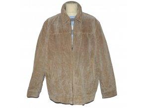 KOŽENÁ pánská hnědá broušená bunda Thomas Nash XXXL