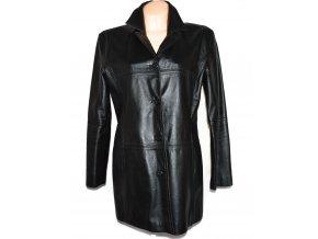 KOŽENÝ dámský černý měkký kabát 46