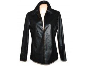 KOŽENÁ dámská černá měkká bunda na zip 40