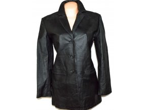 KOŽENÝ dámský černý kabát AGENDA