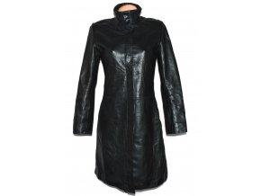 KOŽENÝ dámský černý dlouhý měkký kabát Outer Edge M