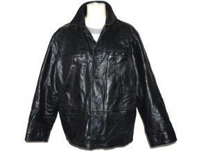 KOŽENÁ pánská černá zateplená bunda ICON XL