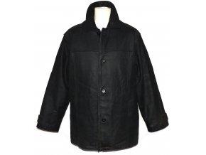 KOŽENÁ pánská černá měkká zateplená bunda TRADER L