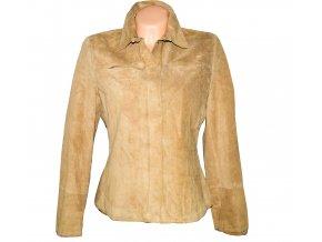 KOŽENÁ dámská béžová bunda Marks&Spencer L