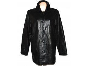 KOŽENÝ dámský černý měkký kabát LAKELAND L/XL