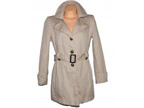 Bavlněný dámský béžový kabát s páskem DUNNES XL