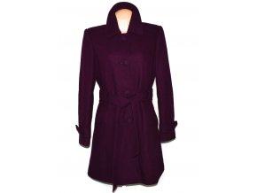 Vlněný dámský fialový kabát s páskem Dorothy Perkins 16/44