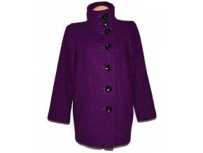 Vlněný dámský fialový kabát OASIS S