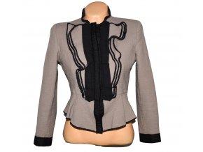 Vlněné dámské hnědé sako s volánky ZARA M/L