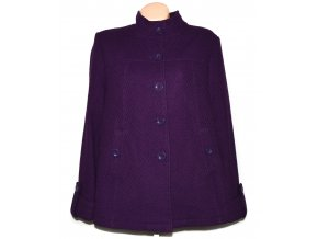 Vlněný dámský fialový kabát BHS XXXL+