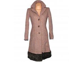 Vlněný dámský růžový dlouhý kabát NEXT 10/38