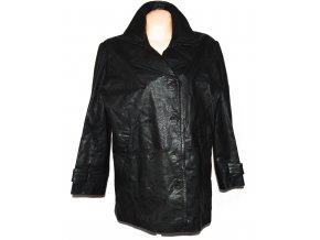 KOŽENÝ dámský černý kabát Style XXL