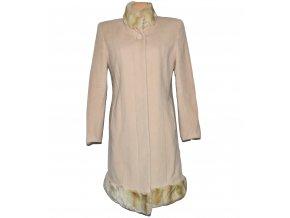 Vlněný dámský béžový kabát (vlna, kašmír) L