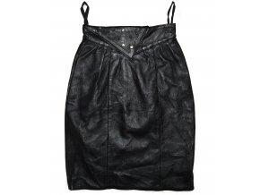KOŽENÁ dámská černá měkká sukně XS