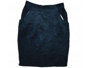 KOŽENÁ dámská modrá broušená sukně