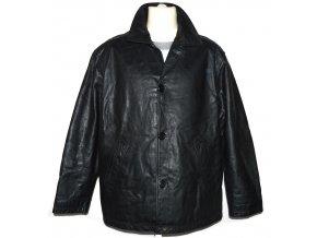 KOŽENÁ pánská černá zateplená bunda Barneys L