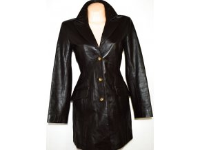 KOŽENÝ dámský měkký hnědý kabát vel. M