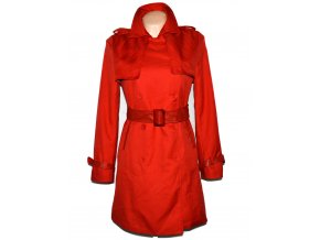 Dámský červený kabát s páskem M/L