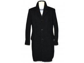 Vlněný pánský šedočerný kabát Ralf 52