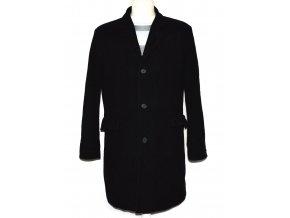 Vlněný pánský černý zateplený kabát Conwell M