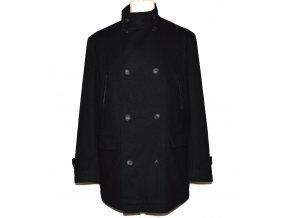 Vlněný (78%) pánský černý kabát Jasper Conran M